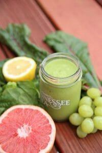 绿色冰沙西柚葡萄柠檬