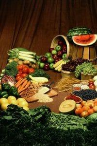 餐桌上的蔬菜