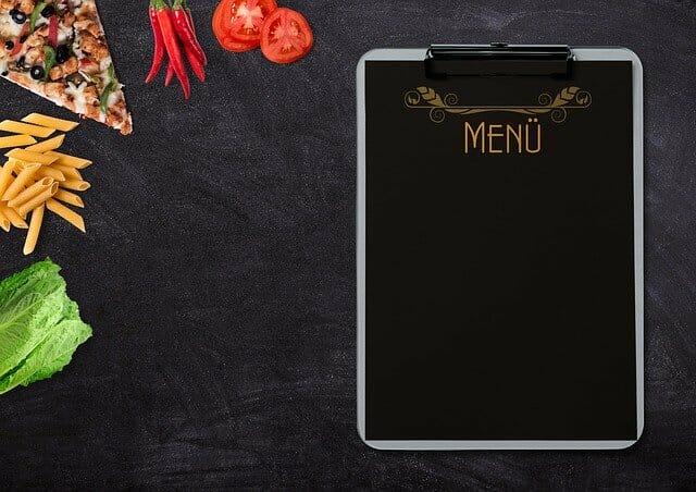 食品和菜单卡