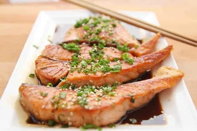 韭菜三文鱼