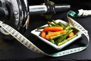 哑铃, 测量, 蔬菜, 瘦身