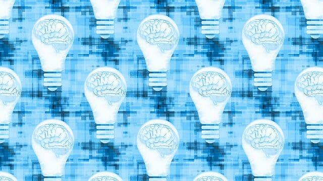 图形描绘在灯泡的大脑。