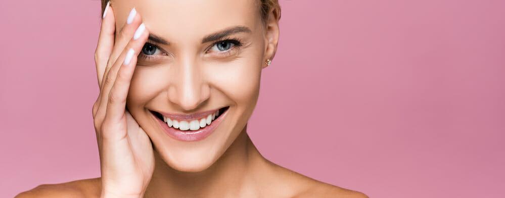 笑容满面的女人
